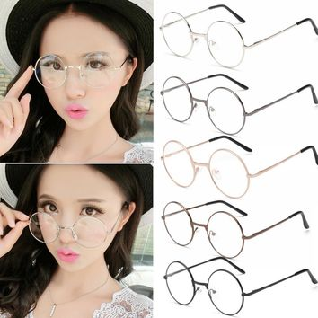 Round Reading Glasses W/Metal Frame/College Style