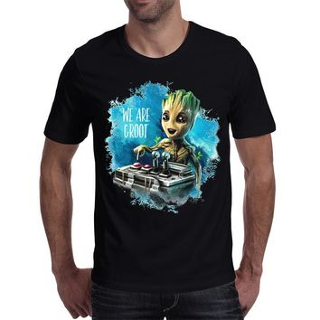 Rocksir 2017 We are Groot Guardians of thr Galaxy Men's clothing Cute design 3D print Top quality T-shirt Plus size Men tees