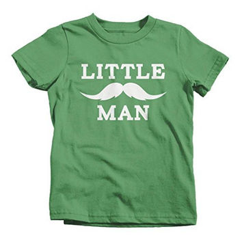 Shirts By Sarah Boy's Matching Father Son Little Man Mustache T-Shirt