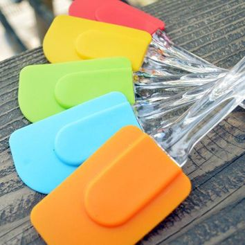 1Pcs Pastry Tools Silicone Spatula Baking Scraper Cream Butter Handled Cake Spatula Cooking Cake Brushes Kitchen Utensil