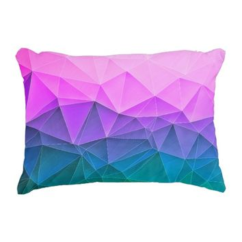 Low Poly Dusk Decorative Pillow