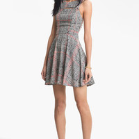 Lush Tank Cutout Skater Dress (Juniors) | Nordstrom