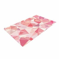 """Nic Squirrell """"Crumpled"""" Pink,Geometric Woven Area Rug"""