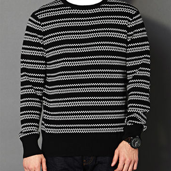 Checkered Stripes Sweater