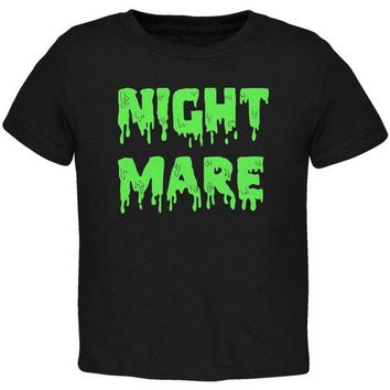 DCCKU3R Halloween Nightmare Horror Slime Dripping Text Toddler T Shirt