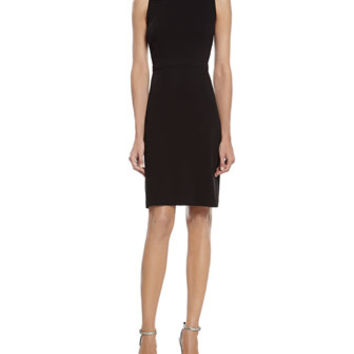 Gucci Black Stretch Viscose Dress with Knot Detail