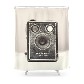 Society6 Vintage Camera Shower Curtain