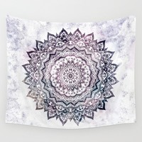Smokey Purple Boho Mandala Tapestry