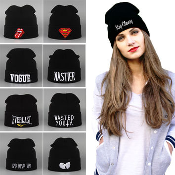 Free Shipping 2014 Brand New Sport Who Winter Cap Men Hat Beanie Knitted Winter Hats For Women And Men Fashion Caps