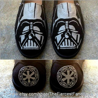 Hand-painted Darth Vader TOMS Shoes