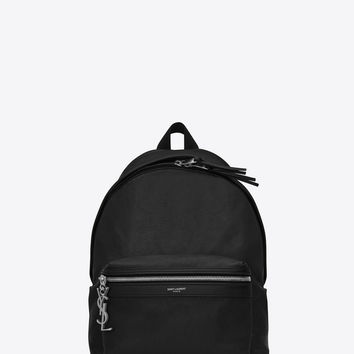 SAINT LAURENT MINI CITY BACKPACK IN BLACK LEATHER | YSL.COM
