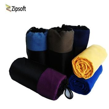 Zipsoft Sports towel Beach towels Microfiber Square Fabric Mesh Bag Quick-drying Travel Blanket Swimming Camping Yoga Mat 2018