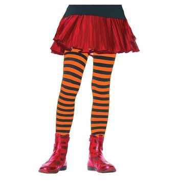 Tights Child Striped Bk-or 4-6