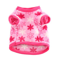 1Pcs Small Dog Clothes Fleece Soft Leopard T-shirt Pet Sweater Clothing Costumes