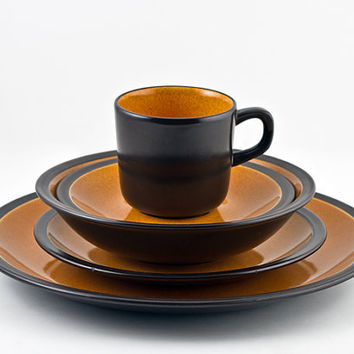 Mikasa Terra Stone Paprika 5pc Place Setting, Pattern 7158