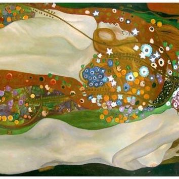 Gustav Klimt Water Serpents II Art Poster 11x17