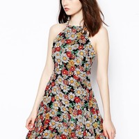 ASOS Sundress With High Neck In Floral Print