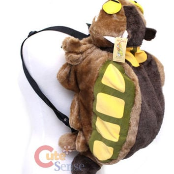 My Neighbor Totoro Cat Bus Plush Backpack -XL 28in at Cutesense.com