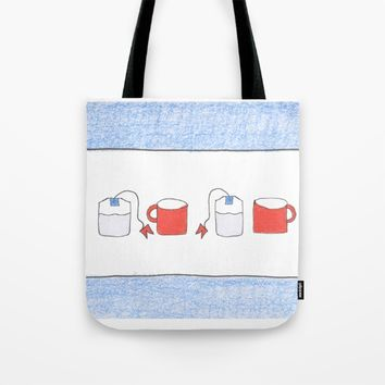 Tea for two Chicago Style Tote Bag by bridget carney