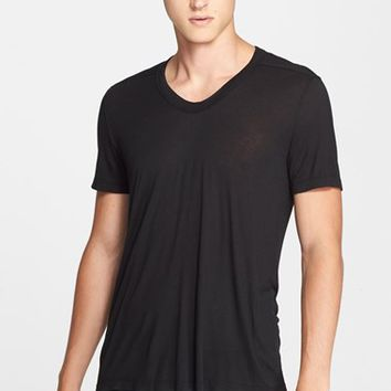 Men's Rick Owens Rounded V-Neck T-Shirt