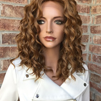 """Felicity Honey Blonde Lace Front Wig 12"""""""