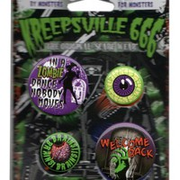 Kreepsville 666 Zombie Badge Set | Attitude Clothing