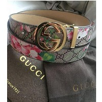 GUCCI delicate printed floral female trendy belt F