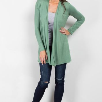 Green-Solid-Cardigan