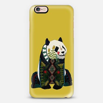 panda ochre iPhone 6s case by Sharon Turner | Casetify