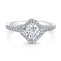 Forevermark Center of My Universe Ideal Square Diamond Halo Ring 1 ...
