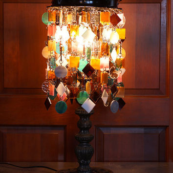Orion's Abstract Stained Glass Lamp, Table Lamp, Accent Light (One of a Kind)
