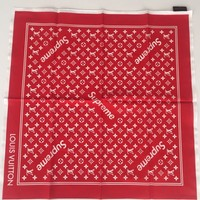 Louis Vuitton x Supreme RED Monogram BANDANA