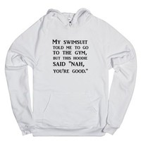 To The Gym-Unisex White Hoodie
