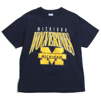 University of Michigan Wolverines Arch & Bar M ChampKnit T-Shirt Navy (Large)