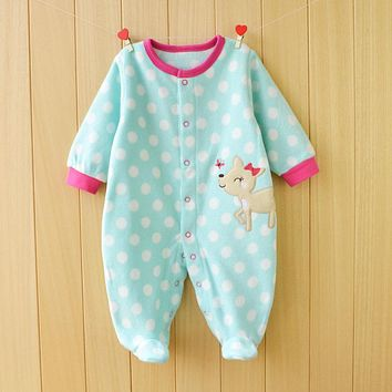 Baby Rompers Spring Baby Boy Clothes Fleece Baby Girl Clothing Cartoon Newborn Clothes Roupas Bebe Infant Baby Jumpsuits Costume