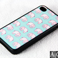 Kawaii Elephant Pattern iPhone 4 iPhone 4S Case, Rubber Material Full Protection