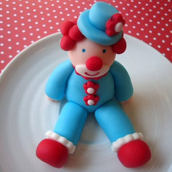 Edible Clown Cake Topper - 3D Circus Clown - Fondant Cake Topper