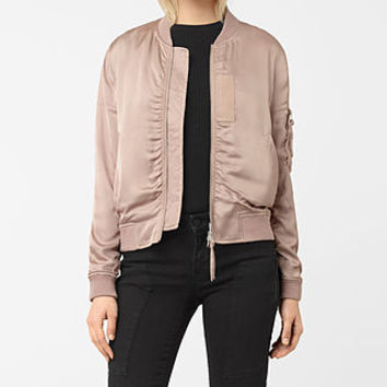 ALLSAINTS US: Womens Kuma Bomber Jacket (Dusty Pink)
