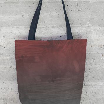 Grey red grunge tote bag