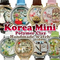 Korea Design Polymer Clay Handmade MINI-miniature Lady Watch