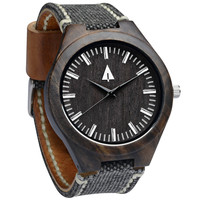 Wooden Watch // Theo Vintage Black