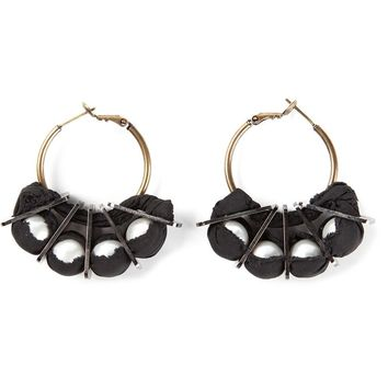 Lanvin grosgrain hoop earrings