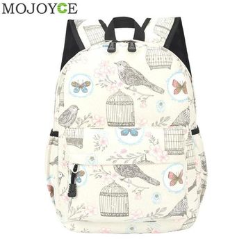 University College Backpack Europe Prints British Style Female Bag Canvas  2018 Newspaper Fashion Leisure Ladies  Printing  Wind TideAT_63_4