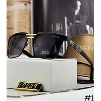 GUCCI trendy polarized men's big box high quality wild casual sunglasses F-A-SDYJ #1