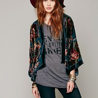 Free People Floral Bed Jacket