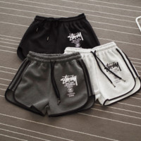 The New Trendy Stussy Letter Printed Sports Shorts Pants