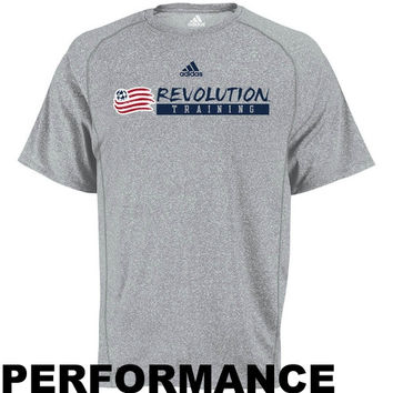 adidas New England Revolution Training Performance T-Shirt - Ash - http://www.shareasale.com/m-pr.cfm?merchantID=7124&userID=1042934&productID=540349383 / New England Revolution