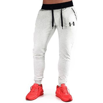 2017 muscle doctor's autumn and winter casual style fashion trend of all cotton pants gyms sweatpants long pants