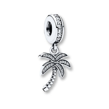 PANDORA Dangle Charm Sparkling Palm Tree Sterling Silver