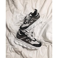 Versace Chain Reaction Sneakers - Black / White